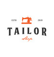 tailor vintage logo inspiration sewing machine vector image