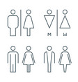 thin line toilet door signs vector image