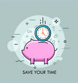 time saving thin line concept vector image vector image