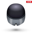 time trial bicycle carbon helmet vector image