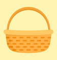 vegetables basket icon flat style vector image