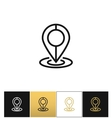 Map pin line icon vector image