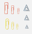 Paper Clip Multi Colored and different form vector image