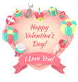 Valentines Day Card with Love Symbols vector image
