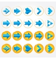Abstract geometric arrows Signs set vector image
