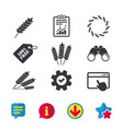 agricultural icons gluten free symbols