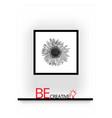 3d poster frame mock up vector image vector image