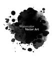 Abstract black watercolor texture vector image vector image