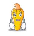 afraid cashew mascot cartoon style vector image vector image