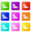 athletic shoe set 9 vector image vector image