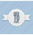 Back to School Holiday Emblem vector image vector image