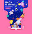 Back to school inspiration poster flat design