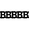 bitcoin sign icon for internet money crypto vector image