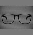 black eye glasses spectacles vector image vector image