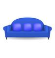 blue soft sofa mockup realistic style vector image vector image