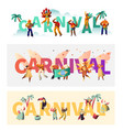 brazil carnival exotic costume typography poster vector image vector image
