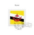 Brunei Flag Postage Stamp vector image