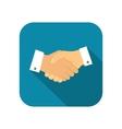 Businessman handshake icon vector image vector image
