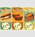 Cake price tags Vintage vector image