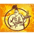 chef pizza banner vector image