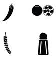 chilli icon set vector image vector image