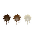 chocolate set desserts in the form of blots vector image