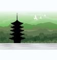 chureito pagoda fujiyoshida japan travel vector image vector image