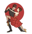 Couple dancing tango vector image vector image