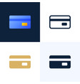credit card stock icon set the concept mobile vector image vector image