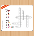 Crossword education game for children about sports vector image