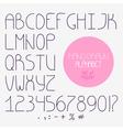 Decorative doodle alphabet Regular font vector image