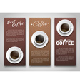 design coffee banners with a cup coffee vector image vector image