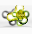 digital 3d space bubble glass and metallic vector image vector image