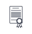 diploma certificate graduate document school vector image