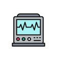 ekg machine with pulse icu monitor vector image