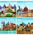 European Cityscapes Concept Icons Set vector image vector image