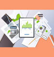 financial report investment business finance vector image