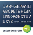 font for credit cards vector image vector image