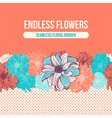 hand-drawn flowers dahlia seamless border vector image vector image
