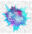 happy easter greeting card with frame of vector image