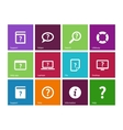 Help and FAQ icons on color background vector image vector image