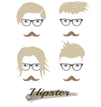 hipster hairstyle vector image vector image