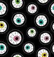 Human eyeball hand drawn stitch patch pattern vector image