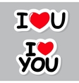 I Love You Sticker vector image