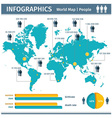 Infographic population of people vector image