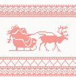 knitted deer and santa vector image