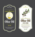 label elements for olive oil elegant dark and vector image vector image