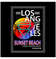 los angeles typography for t-shirt print vector image vector image