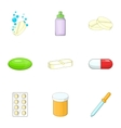 Medical preparations icons set cartoon style vector image vector image