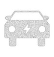 mesh electric power car icon vector image vector image